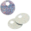 Sequins Hologram 20mm 4mm Hole Round Silver